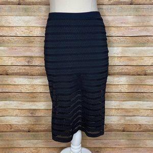 Bebe| Pencil Skirt| Black| Medium